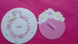 CHANCE   2 Cartes Ensemble De CHANEL - Perfume Cards