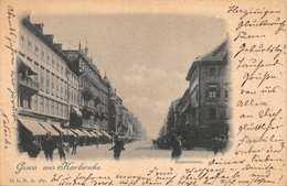 KARLSRUHE GERMANY~KAISERSTRASSE~VIGNETTE PHOTO POSTCARD 1899 POSTMARK POSTCARD 39607 - Karlsruhe