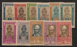 Gabon - 1930 - Taxe TT N°Yv. 12 à 22 - Série Complète - Neuf Luxe ** / MNH / Postfrisch - Neufs