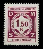 BÖHMEN MÄHREN DIENST Nr 8 Postfrisch S359376 - Bohemia & Moravia