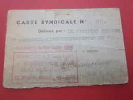 CARTE SYNDICALE-FÉDÉRATION INFIRMIERS DE FRANCE & TERR- ANCIEN COMBATTANT VICTIME DE GUERRE-Militaria Document Militaire - Documents