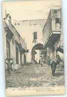 MAROC MAROKKO MOROCCO   CPA  TANGER UNE RUE DU QUARTIER ARABE ( MONTEE DE LA CASBAH ) - Morocco