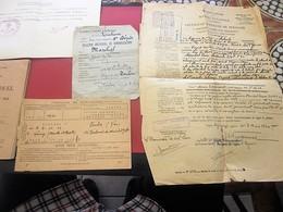LIVRET MILITAIRE INDIVIDUEL MARINE NATIONALE+CERTIFICAT PRÉSENCE CORPS+ORIGINE BLESSURE+DÉMOBILISATION+FASC MOBILISATION - Documents