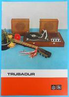 "YUGOSLAVIA GRAMOPHONE ""TRUBADUR"" Orig. Vintage Sales Prospectus RIZ - Iskra * Phonograph Grammophon Grammofono Gramophon - Technical"