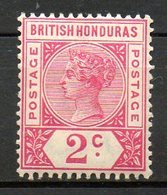 HONDURAS - (Colonie Britannique) - 1891-93 - N° 39 - 2 C. Rose - (Victoria) - Honduras