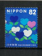 Japan Mi:08176 2016.09.30 The 100th Anniv. Of Postal Life Insurance Service(used) - 1989-... Empereur Akihito (Ere Heisei)