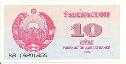 OUZBEKISTAN 10 SUM 1992 UNC P 64 - Ouzbékistan