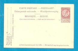 Paquebots De L'Etat Belge.-Ligne Ostende Douvres / PRINCESSE JOSEPHINE - Stamped Stationery