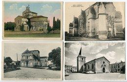 8 CHARENTE MARITIME EGLISE Matha / Varzay / Chevanceaux / Saujon / Chermignac / Tremblade / Talmont Intérieur/ Echillais - France
