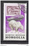 Mongolie, Mongolia, Zeppelin, Timbre Sur Timbre, Stamp On Stamp, Polar Flight, Ours Polaire, Polar Bear, Vol Polaire - Zeppeline