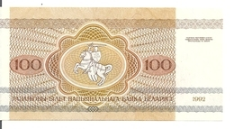 BIELORUSSIE 100 RUBLEI 1992 UNC P 8 - Belarus