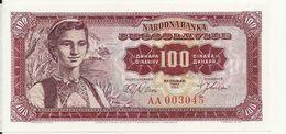 YOUGOSLAVIE 100 DINARA 1963 UNC P 73 - Jugoslawien