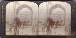 AN ORIENTAL OMNIBUS. LUPUR INDIA. YEAR 1903 HC WITE CO. ORIGINAL SIZE 18x9cm - BLEUP - Stereoscopio