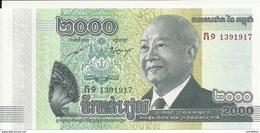 CAMBODGE 2000 RIELS 2013 UNC P 64 - Cambodia