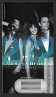 F-Carte à Rabat 3 X 6 Carolina Herrera  - 212 Perfume Card - USA - Modern (from 1961)
