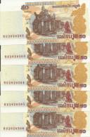 CAMBODGE 50 RIELS 2002 UNC P 52 ( 5 Billets ) - Cambodja