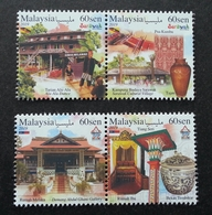 Malaysia Tourist Destinations Melaka & Sarawak 2019 Dance Craft Textile Porcelain Art Costume (stamp) MNH - Malaysia (1964-...)