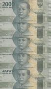 INDONESIE 2000 RUPIAH 2016 UNC P 155a ( 5 Billets ) - Indonésie