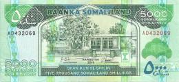 SOMALILAND 5000 SHILLINGS 2011 UNC P 21 - Somalie