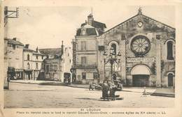 ". CPA FRANCE 86 "" Loudun, Place Du Marché"" - Loudun"