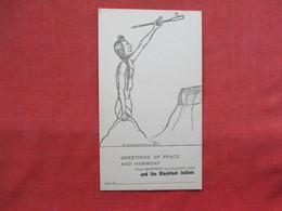 Blank Back Non Postcard--- Greetings Of Peace & Harmony  Blackfeet Indians ----ref 3218 - Indiens De L'Amerique Du Nord