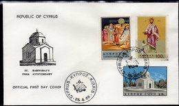 CYPRUS, 1966 SAINT BARNABAS FDC - Chypre (République)