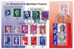 FRANCE => Carte Maximum - Marianne De La Jeunesse (20g) Premier Jour 13 La Ciotat - Cartoline Maximum
