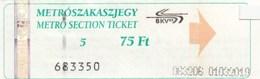 Metro Ticket 200?. Budapest Hungary - Transportation Tickets