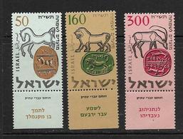 ISRAEL 1957 NOUVEL-AN  YVERT N121/23 AVEC TAB  NEUF MNH** - Israel