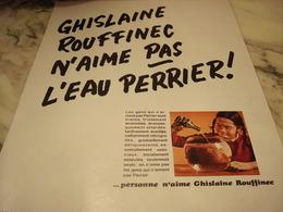 ANCIENNE PUBLICITE ROUFFINEC N AIME PAS  PERRIER  1969 - Affiches
