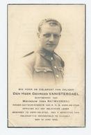 Doodsprentje Georges Vanisterdael 1914-1944 Gesneuveld Te Hasselt - Religion & Esotérisme