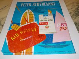 ANCIENNE PUBLICITE CIGARETTES PETER STUYVESANT 1969 - Tabac (objets Liés)