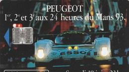 TELECARTE 120... PEUGEOT  1er,2e ET 3e  AUX 24 HEURES DU MANS EN  93 - Frankrijk