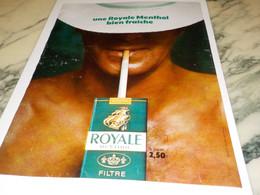 ANCIENNE PUBLICITE BIEN FRAICHE ROYALE MENTHOL 1969 - Tabac (objets Liés)
