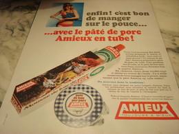 ANCIENNE PUBLICITE PATE DE PORC EN TUBE AMIEUX ET FRERES 1969 - Affiches