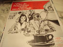 ANCIENNE PUBLICITE PAS DE REPAS SANS CAFE 1969 - Affiches