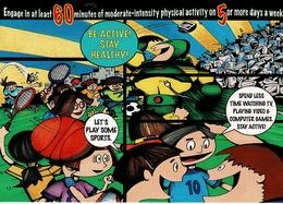 24F : Sport Cartoon - Play Less Computer Go Sports Advertisement Postcard - Postcards