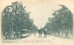13  Marseille - L' Avenue Du Prado - Tramway     K 366 - Castellane, Prado, Menpenti, Rouet