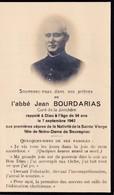 Mémento Décès - Abbé Jean Bourdarias - Curé De La Jonchère-Saint-Maurice (87) - 7 Septembre 1940 - Décès