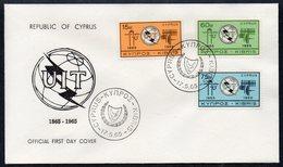 CYPRUS, 1965 ITU FDC - Lettres & Documents