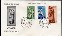 CYPRUS, 1965 INSURANCE LAWS FDC - Lettres & Documents
