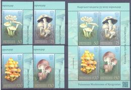 2019. Kyrgyzstan, Poisonous Mushrooms, 4v + S/s, Mint/** - Kirgisistan