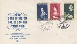 Enveloppe  FDC   1er  Jour  SARRE   Secours  Populaire   1956 - FDC