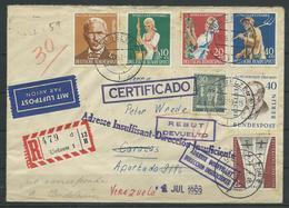 "Nr. 297 - 300 MIF Recobrief ""Uelzen - Caracas/Venezuela + Zurück - [7] República Federal"