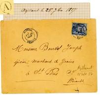 HERAULT LAC 1887 OLONZAC T18 SUR SAGE + BOITE RURALE A = AZILLANET - Marcofilie (Brieven)