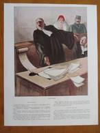 (1933)  Illustration AVOCAT Et Plédoirie Par Pierre De BELAY - Page Originale Vintage - Documents Historiques