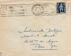 Constantine RP 1953 - Flamme Ravins & Rochers - Ponts Antiquités - Covers & Documents