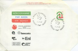 ITALIA - AEROGRAMMA 1982 - TRICOLORE LIRE 450 - ANNULLO FDC - 6. 1946-.. Repubblica