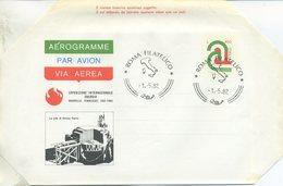 ITALIA - AEROGRAMMA 1982 - ESPOSIZIONE ENERGIA KNOXVILLE - FDC - 6. 1946-.. Repubblica