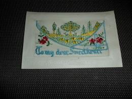 Carte Brodée ( 139 )  Geborduurde Kaart  Carte Enveloppe   To My Dear Sweetheart - Brodées